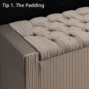 Tip 1 - Check the padding of the fabric ottoman