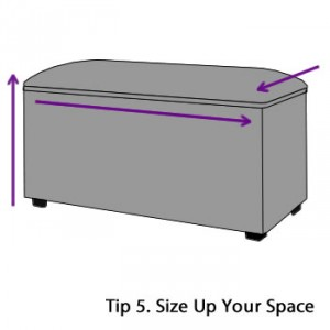Measure the space for your fabric blanket box