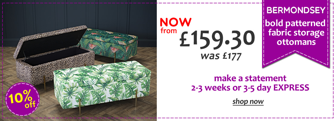 HOMEPAGE - Bermondsey Printed Ottomans - 10% Off