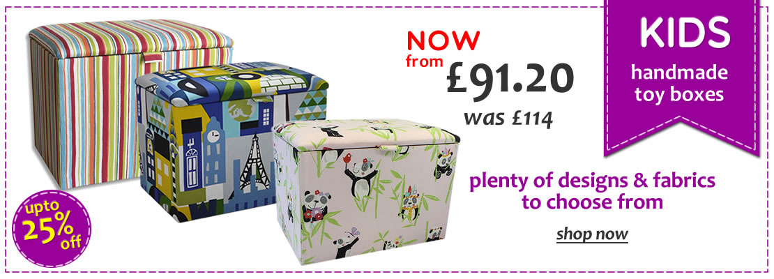 Handmade Upholstered Childrens Toy Boxes - 55% Off