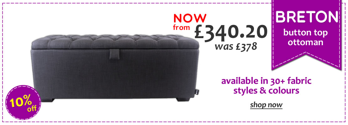 HOMEPAGE - Breton Button Top Ottoman - 15% Off
