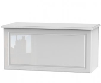 Deeside White Gloss Blanket Box
