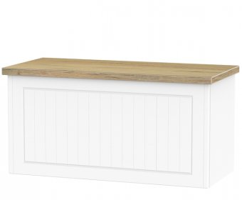Levante Porcelain Ash and Bordeaux Oak Blanket Box