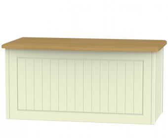 Warwick Cream and Oak Wooden Blanket Box
