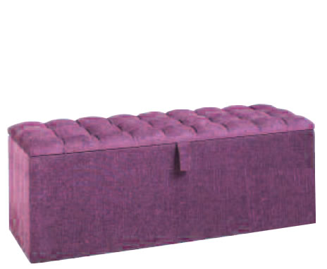 Chests Braga 135cm Buttoned Top Upholstered Ottoman turin navy