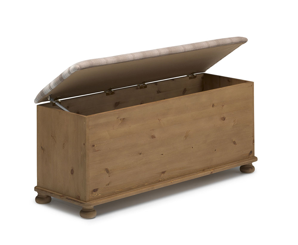 Ottoman Wooden Country Wood Crate Burlap Top Cube Ottoman Kathy Kuo Home, Ascot Wooden Ottoman