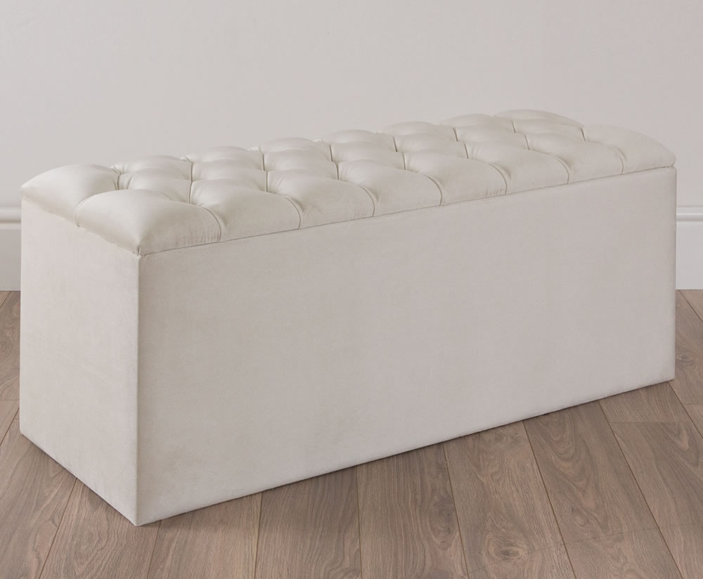 justottomans.co.uk Quilted Gem Sand Upholstered Ottoman *Special Offer*