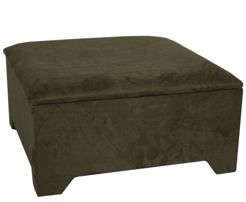 Chests Hunter Square Upholstered Ottoman small ottoman chenille sand