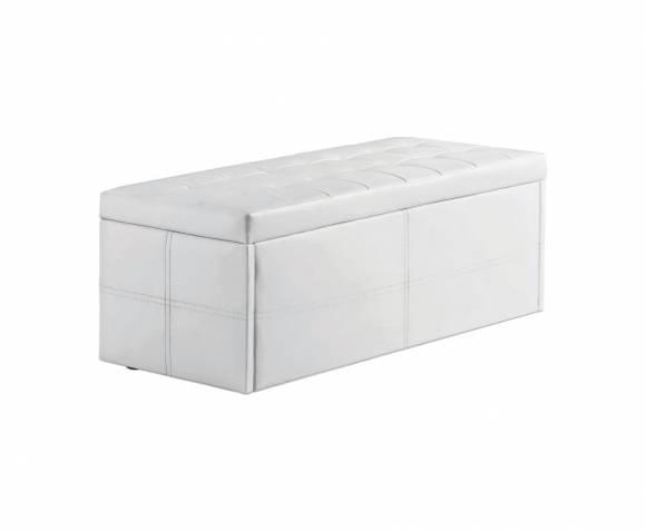 Chests Durban White Faux Leather Ottoman *Special Offer*