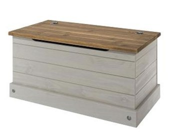 Cologne Grey Washed Pine Ottoman