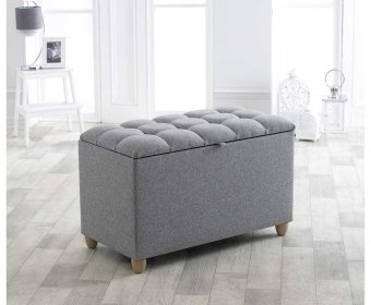Kota Grey Upholstered Blanket Box