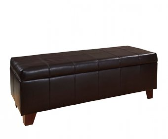 Sofia Brown Genuine Leather Ottoman
