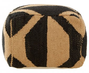 Binsel Wool Brown Pouffe