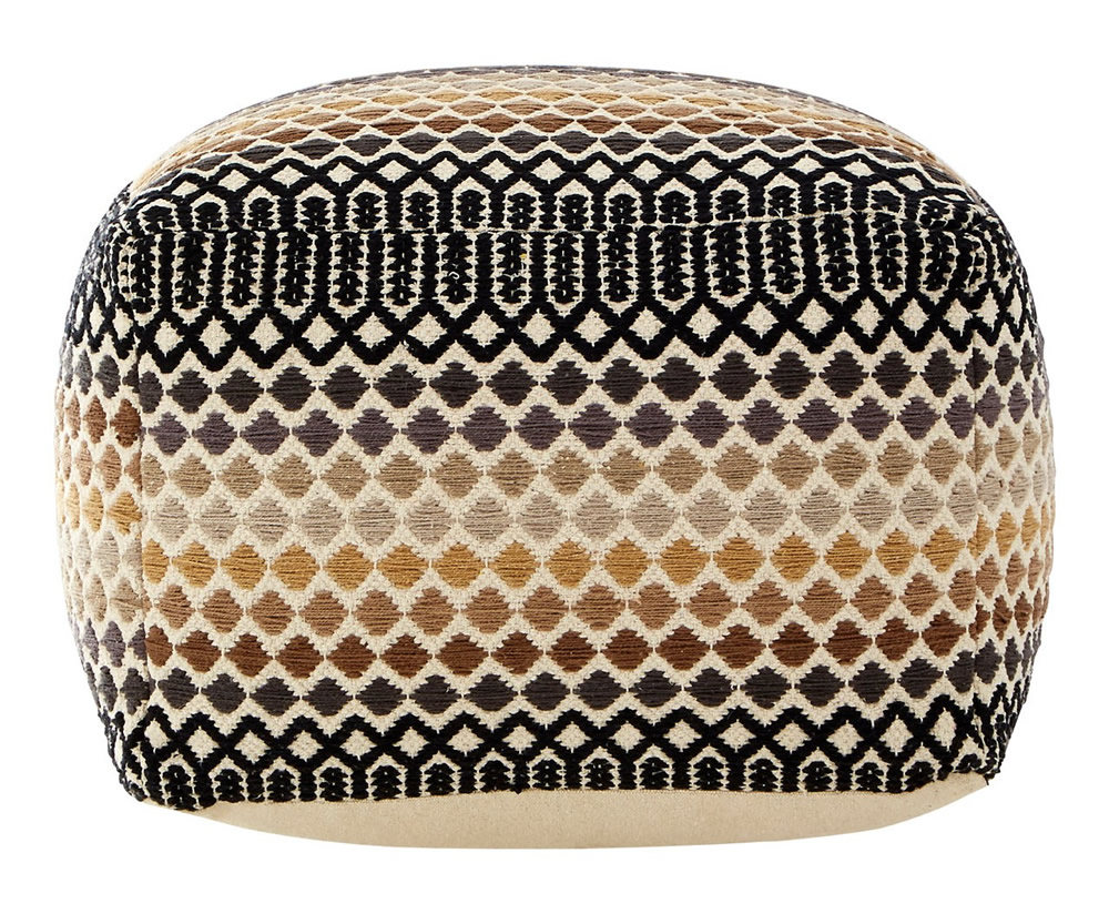 Chests Binsel Woven Cotton Pouffe