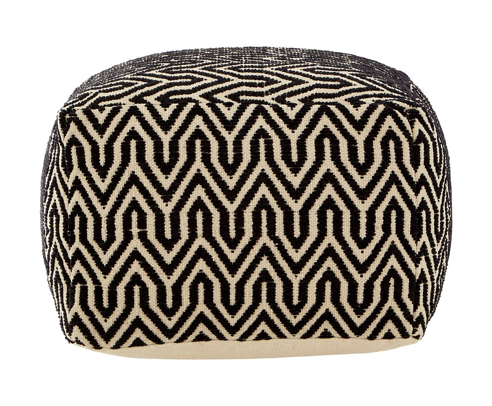 Chests Binsel Cotton Brown Pouffe