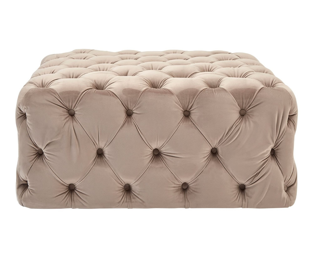 Chests Lesho Coffee Velvet Footstool