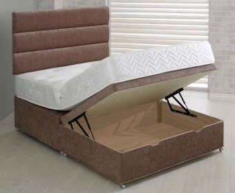 Franca Upholstered Ottoman Half Lift Bed