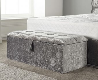 Sherine Diamante Buttoned Upholstered Ottoman