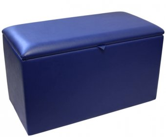 Ethan Faux Leather and Suede Ottoman