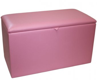 Katelyn Faux Leather and Suede Toy Box