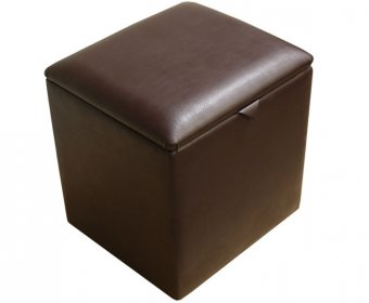 Toby Faux Leather and Suede Storage Box