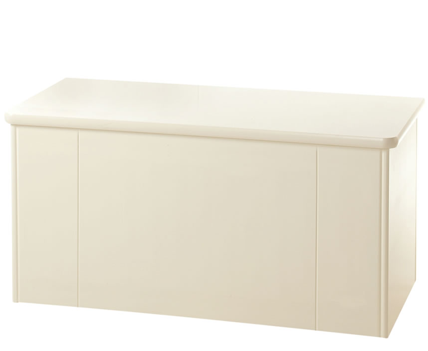 justottomans.co.uk Eden Cream Wooden Blanket Box