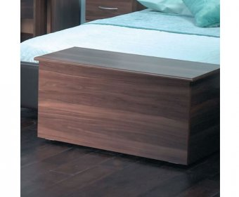 Tara Walnut Wooden Blanket Box