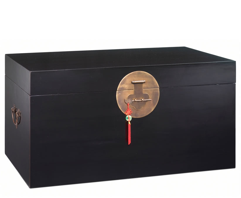 justottomans.co.uk Mandarin Black Blanket Storage Trunk
