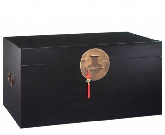 Mandarin Black Blanket Storage Trunk