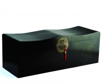 Shanghai Black Blanket Storage Trunk