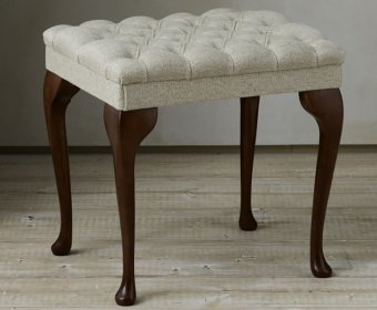 Queen Anne Upholstered Stool