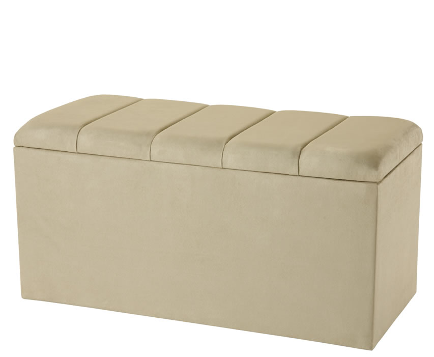 Ottomans Deacon Beige Upholstered Blanket Box: Florence Upholstered Storage Ottoman