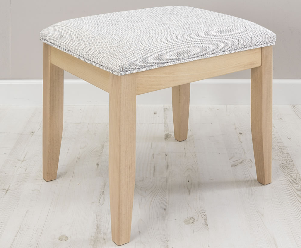 justottomans.co.uk Fay Upholstered Stool faux leather black beech legs