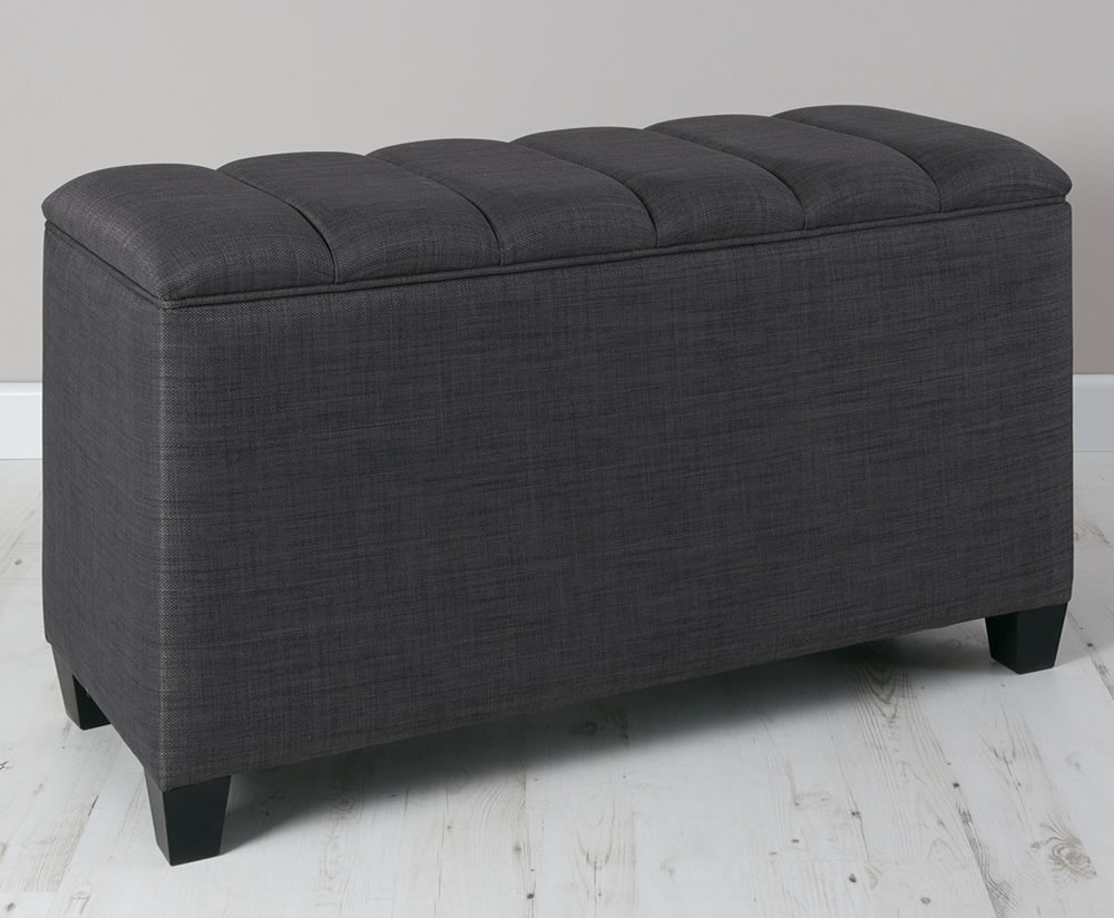 Burgundy Faux Leather Amp Suede Ottoman Just Ottomans