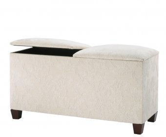 Normandy Upholstered Twin Lid Ottoman