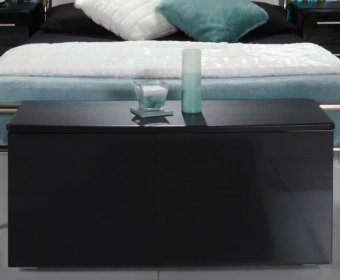Knight Black High Gloss Blanket Box