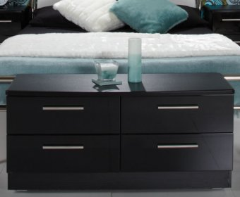 Knight Black High Gloss Bed Box