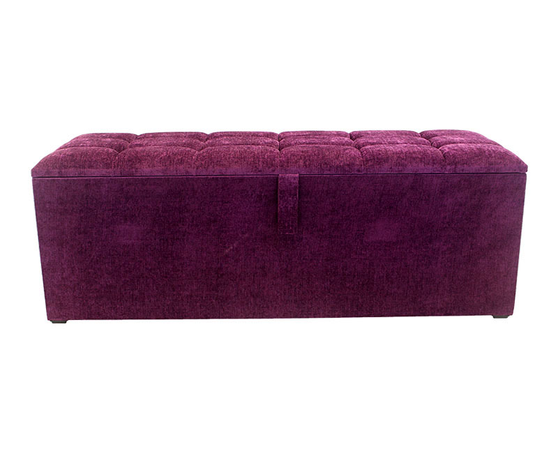Braga Buttoned Top Upholstered Ottoman