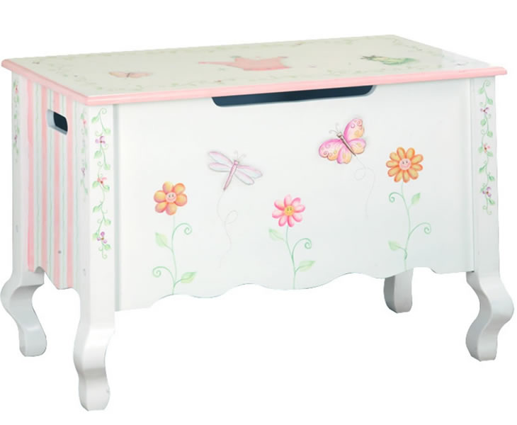 princess wooden girls toy box just ottomans. Black Bedroom Furniture Sets. Home Design Ideas