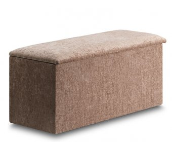 Aurela Faux Leather and Suede Ottoman