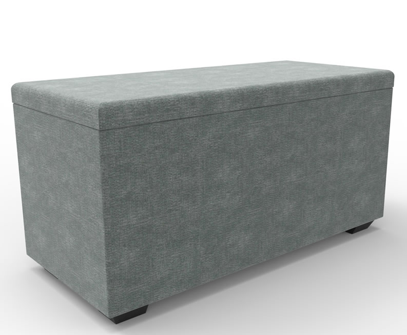 justottomans.co.uk Istanbul Faux Leather and Suede Fabric Ottoman medium size milano faux leather black black feet