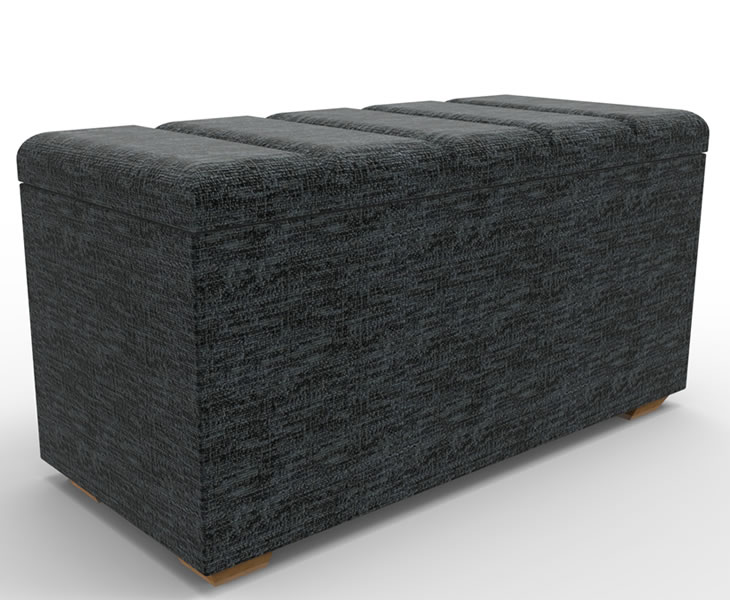 justottomans.co.uk Bedford Faux Leather and Suede Panel Top Ottoman medium size milano faux leather black black feet