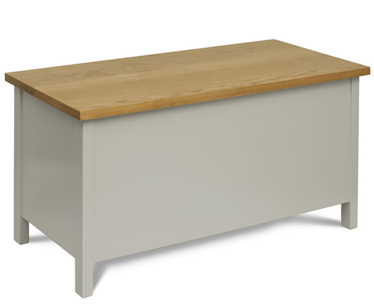 justottomans.co.uk Palterton Belgrave Painted Wooden Ottoman painted finish with windsor oak top