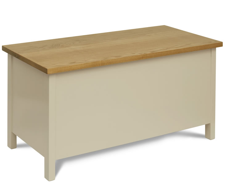 justottomans.co.uk Walton Helena Painted Wooden Ottoman painted finish with windsor oak top