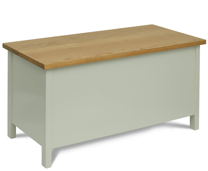 justottomans.co.uk Reeves Chaffinch Painted Wooden Ottoman painted finish with windsor oak top