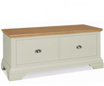 Hampstead Soft Grey Painted Oak Ottoman