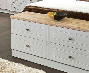 Levante Kashmir Ash and Bordeaux Oak 4 Drawer Bed Box Chest