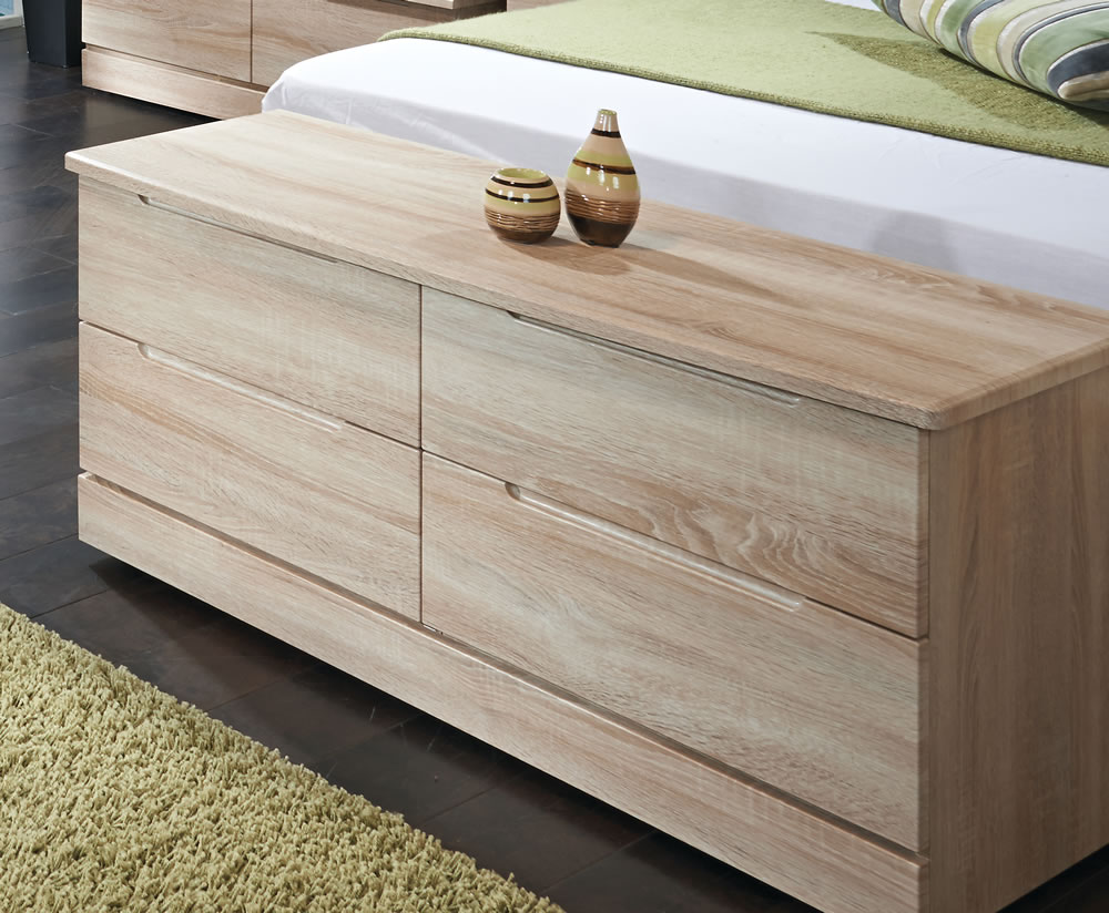 justottomans.co.uk Albion Bardolino Wooden 4 Drawer Bed Box