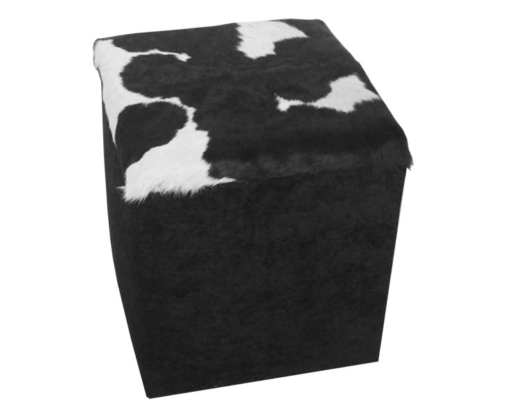 justottomans.co.uk Jackson Cowhide Workbox *Special Offer*