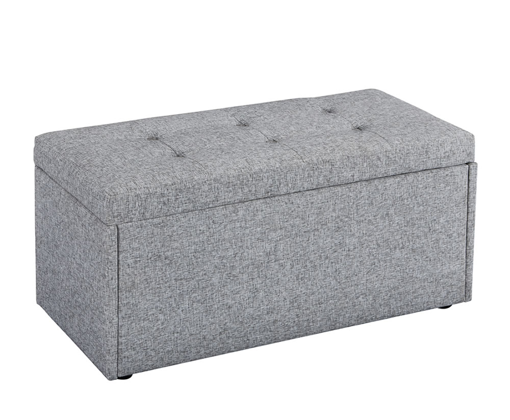 What Are Ottomans Used For Bloomfield Grey Fabric